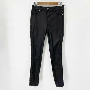 1822 Denim Skinny Ankle Jeans Sz 28 Coated Black